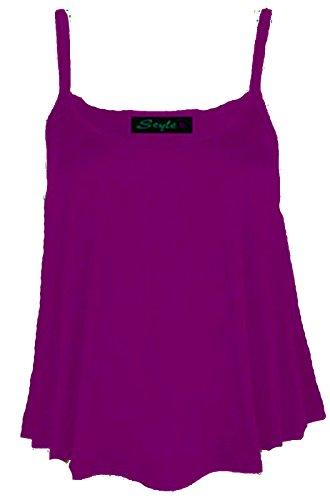 B&S Trendz - Top sin mangas para mujer talla grande (36-54), monocolor morado