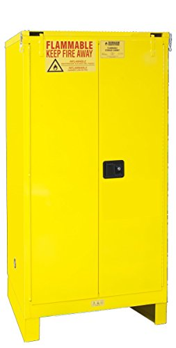 Self Closing Cabinet - Durham 1060SL-50 Flammable Safety Cabinet with 2 Self Closing Door and Legs, 34