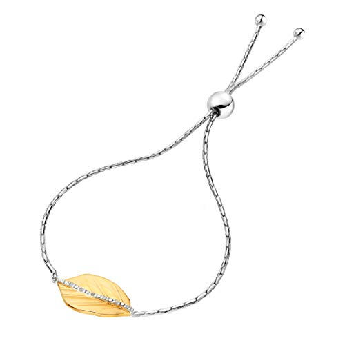 120-cttw-Diamond-Bolo-Bracelet-Yellow-Gold-Plated-Over-925-Sterling-Silver-Leaf