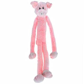 Multipet Swingin Slevin XXL Oversized 30-Inch Pink Pig Plush Dog Toy