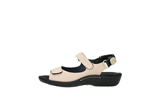 Wolky 1300 Salvia Black Womens Sandals 262 old rose leather