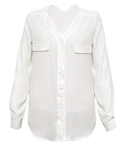 Couleur Femme Unie White YFLTZ Patchwork Blouse t40tZx