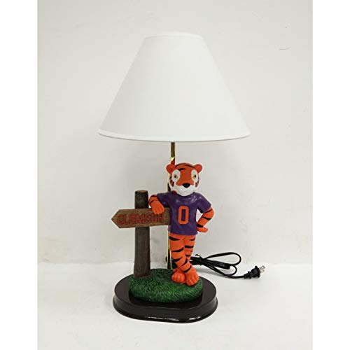 Oxbay Clemson Tigers Mascot with Clemson Sign Lamp