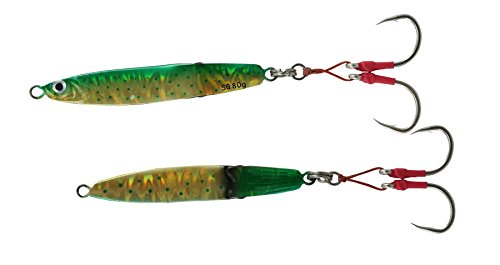 Savage Gear Slim Squish Body Erratic Fall Jig 6/0 Hooks, Dorado, 4.5