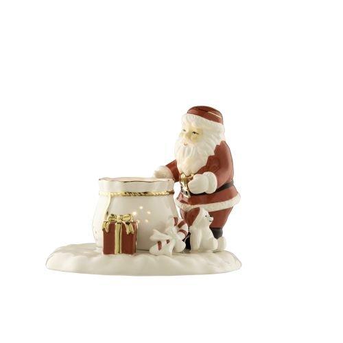 Belleek Living Christmas Ivory Santa Votive Candleholder