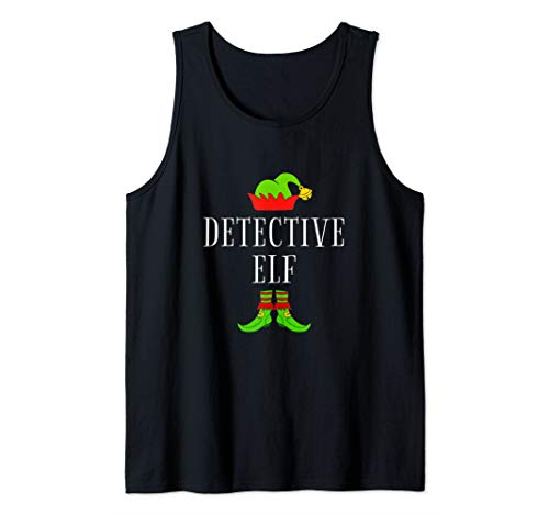 Detective Costume Ideas (Detective Elf Costume Funny Christmas Xmas Holiday Matching Tank)