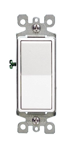 Leviton 5603-2WM 15 Amp, 120/277V Decora Rocker 3-Way AC Quiet Switch, 5-Pack, White