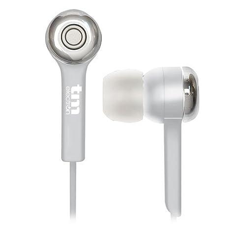 TM Electron TMHE252W - Auricular estéreo intrauriculares con Almohadillas de Silicona, Color Blanco: Amazon.es: Electrónica