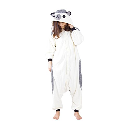 YARBAR Kigurumi Pijamas Unisexo Adulto Traje Disfraz de Halloween Cosplay Jumpsuit Animales Pyjamas Ropa De Dormir Erizo