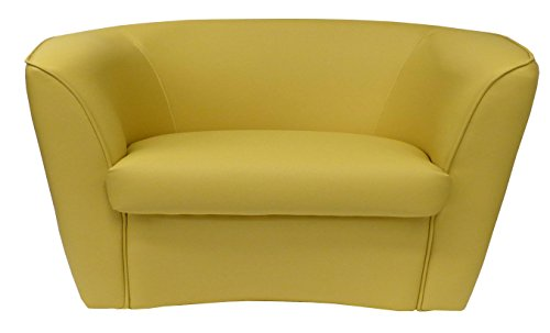 Divano divanetto 2 posti giallo ocra per soggiorno sala da pranzo ...