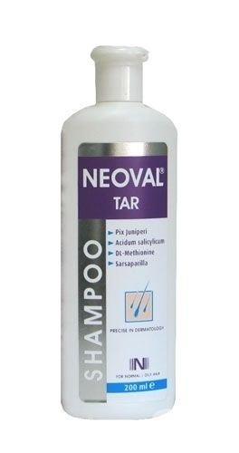 NEOVAL TAR Anti Dandruff Psoriasis and Seborrheic dermatitis Treatment - Shampoo Salicylic Acid Sulfur