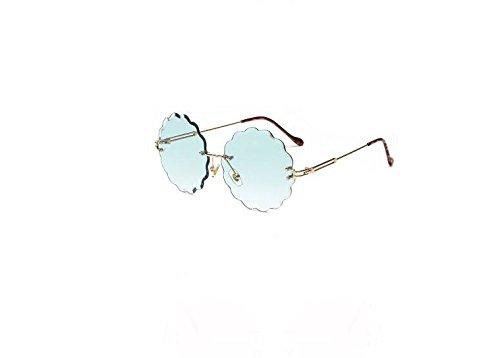 UV400 verde 7x5 sin Llama de de Diamante Forma 7cm Sol Naranja Flor 7x13 12 Gafas de con y Fishroll Corte OSHwgn