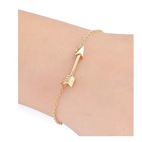 arm Bracelet Jewelry Gift,Fashion Womens Arrow Retro Alloy Chain Bracelet Jewelry Anklet Gift (Gold) ()