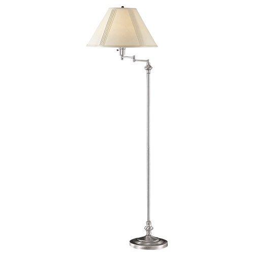 Cal Lighting BO-314-BS Transitional Swing Arm Floor Lamp, 150-watt, Brushed Steel by Cal