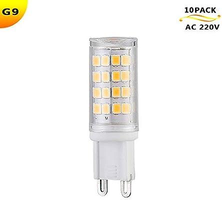 AKFG® Lámpara LED G9 blanca fría, bombilla de 3W AC 220V 52 perlas de lámpara 3000K SMD 2835 Luz reemplaza bombilla de 30 vatios (paquete de 10)