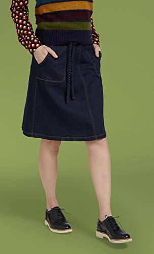 Jupe Bleu Femme Trapèze Encre Louie Uni King wq0F5F