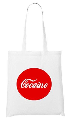 Borsa Con Bottoni Di Cocaina Bianca