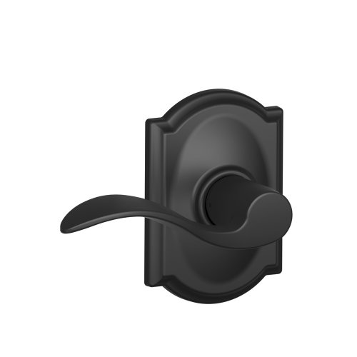 Schlage Camelot Trim with Accent Hall and Closet Lever, Matte Black (F10 ACC 622 CAM)