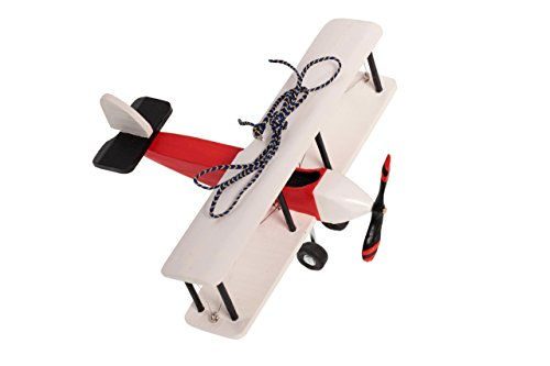 Hanging Airplane For Children Kid Room Nursery Fly Vintage Wooden Decor Collectible White 5''