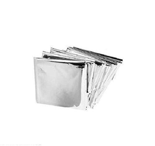 25 Packs Mylar Emergency Solar Blanket Aluminized Polyethylene 54