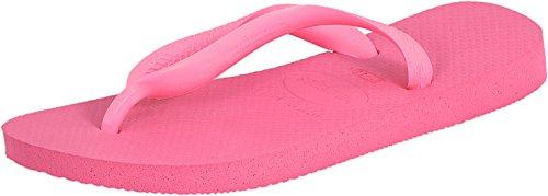 Havaianas Womens Shocking Pink Top Flip Flops-UK - Havaianas Pink