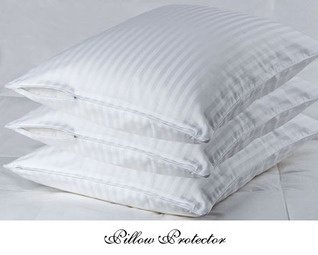 Cotton Sateen Pillow Protector - 100% Egyptian Cotton Sateen Pillow Protectors, Hidden zipper to Keep Pillow Clean & Dust Free, Pillow Protector (White/King (20x36))