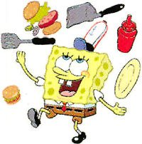 BU SPONGEBOB Krusty Krab WALL APPLIQUES wallpaper kid room