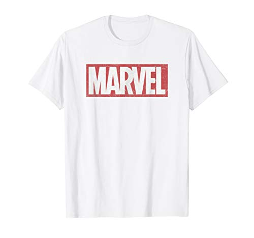 (Marvel Classic Distressed Logo Graphic T-Shirt C2)