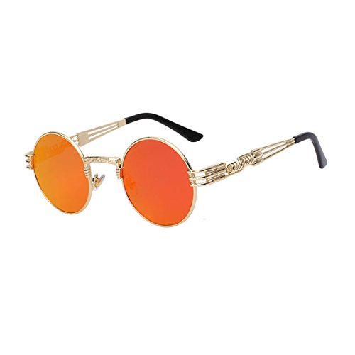BRENTBROWN2 Men Women Metal WrapEyeglasses Round Shades Sunglasses - Desmond Sunglasses
