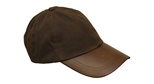 Walker Leather Coat (Walker and Hawkes Men's Wax Baseball Cap Waxed Cotton Leather Peak One-Size Brown)