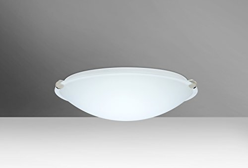 Besa Lighting 968207-PN 1X100W A19 Trio 12 Ceiling Light Fixture with White Glass, Polished Nickel Finish by Besa