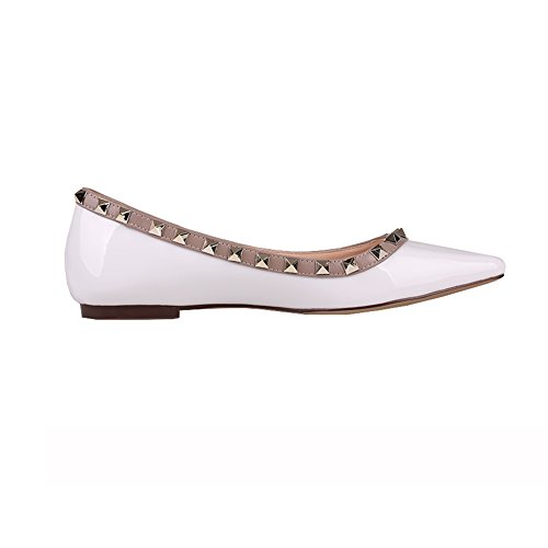 White EKS Balletto EKS Donna Balletto Patent T4Ianqvw