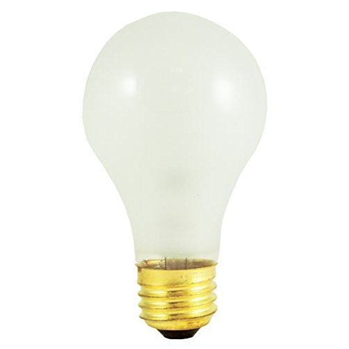 Bulbrite 60A/RS 60-Watt Incandescent Standard A19 Rough Service, Medium Base, Frost , 24 Bulbs ()