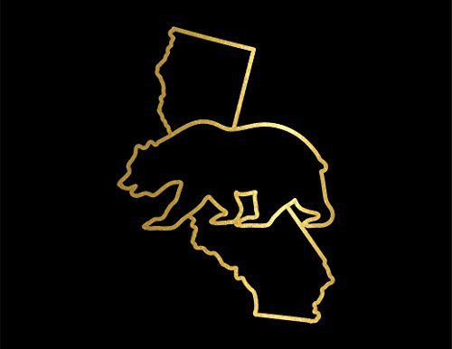- ND060G California Golden Bear Decal Sticker | 5.5-Inches By 3.3-Inches | Premium Quality Gold Vinyl