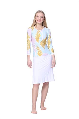 Amanda K Modest Swimwear for Women Long Sleeves Shirt & Skirt w/Leggings (S)