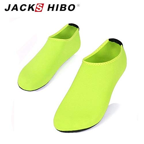 CUSHY Shibo Water Shoes Men Swimming Shoes Solid Color Design Summer Aqua Beach Shoes Sea S Sneaker for Men Zapatos Hombre Green 42