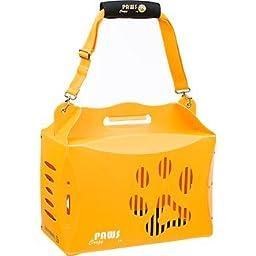 Wacky Paws ECO Pet Carrier, V1, Large, Orange