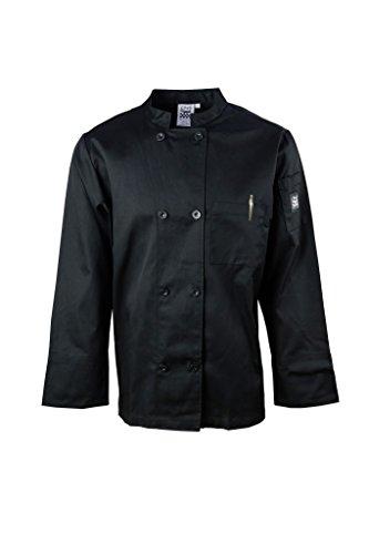 Chef Revival J071BK-M Basic Chef Jacket with Logo Button - Black - Medium (Chef Clothing Revival)