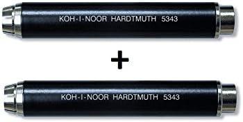 Nero Set di 2 Porta-gessetti in metallo KOH-I-NOOR 5343