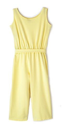 LOUIE Girl's Flowy Jumpsuit -7 Yellow
