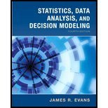 Statistics, Data Analysis and Decision Modeling, Evans and Evans, James R., 013138435X