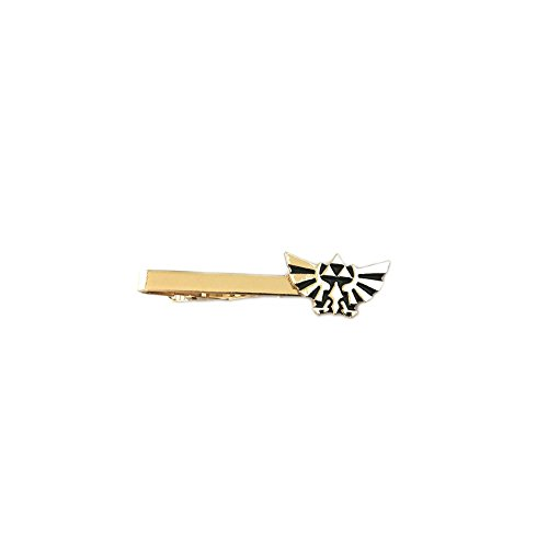 Athena Brand Game Legend of Zelda Gold Hylian Crest Tie Bar In Gift - Zelda Clip Tie