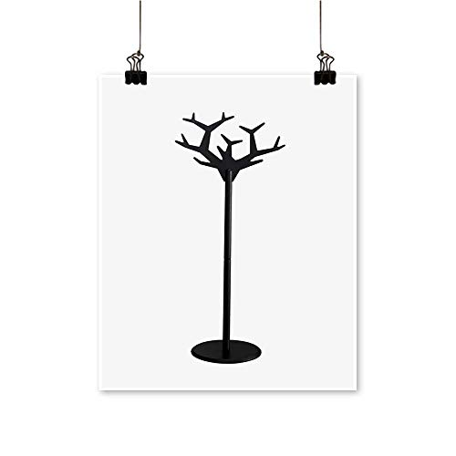 (painting-home Wall Artwooden Black Coat Rack Isolate for Hallway Bathroom,12