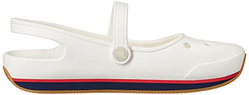 Crocs Womens Retro Mary Jane Slip on Shoes White / Nautical Navy vXt9E8UaW