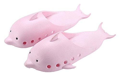 Summer de Rosado de par Koala Dolphin Cerrado Superstore Antideslizante Zapatillas Baño Slippers Lovely Semi a8wqxI148