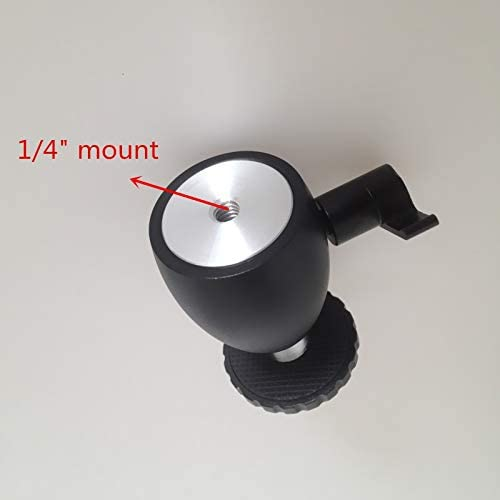 Mini Ball Head Tripod Head DSLR DV Camera 360 Swivel Ballhead 1//4 Screw Mount Stand Fasmodel