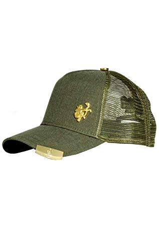 Red Monkey Gold Tip Olive New Unisex Fashion Trucker Cap -