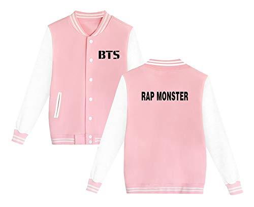 Baseball Da Sweatshirts Bangtan Pink4 Semplice Moda Boys Aivosen Unisex Bts Giacca Plus Cashmere Style Casual pop Allentato Outwear K SPwvqBT