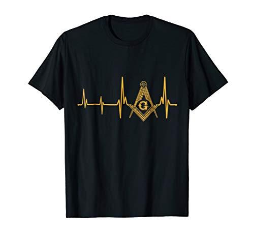 Freemason Heartbeat T-Shirt Masonic Heartbeat T-shirt (Shirts Masonic)