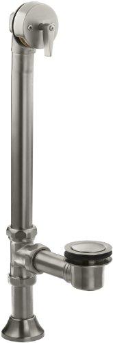 KOHLER K-7178-BN Clearflo Decorative 1-1/2-Inch Adjustable Pop-Up Bath Drain, Vibrant Brushed Nickel - Nickel Clearflo Adjustable Pop
